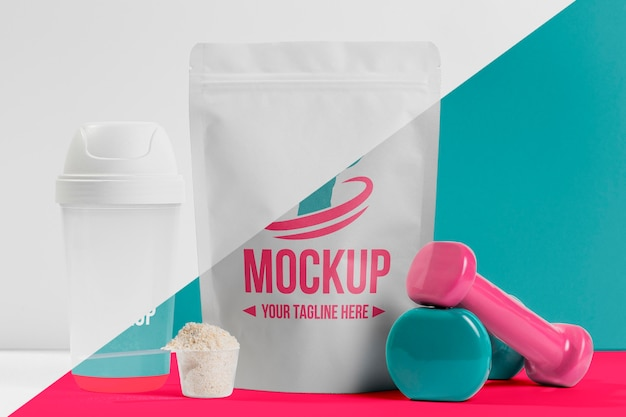Nährstoffe und gewichte für fitnesspulver