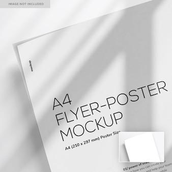 Nahaufnahme a4 flyer-poster mockup