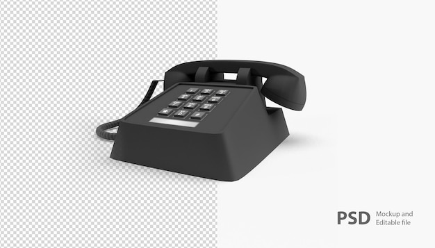 Nahaufnahme am telefon isoliert