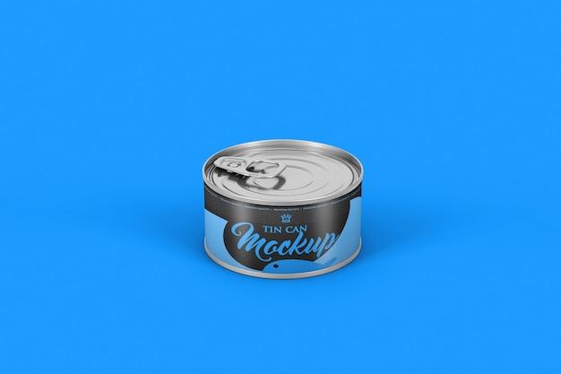 Nahaufnahme auf aluminiumdose für lebensmittelmodell