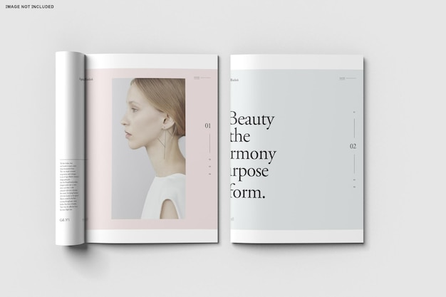 Nahaufnahme auf bifold broschüre katalog