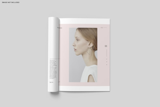 Nahaufnahme auf bifold broschüre katalog Premium PSD