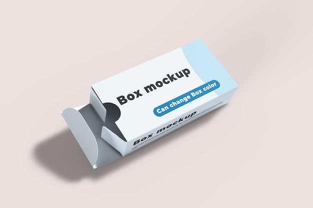 Nahaufnahme auf box mockup isolated