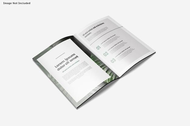 Nahaufnahme auf broschüre modell isoliert