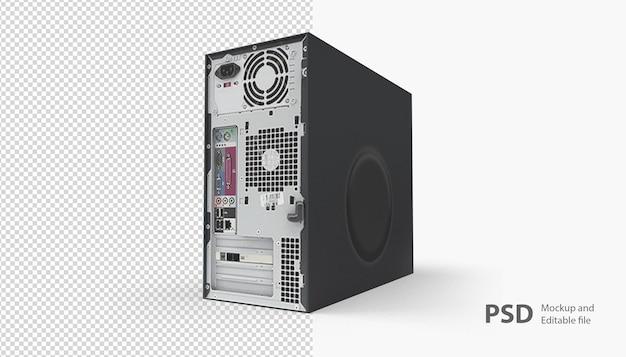 Nahaufnahme auf cpu-computer isoliert