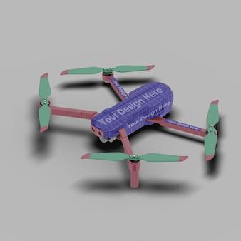 Nahaufnahme auf drone mockup isolated