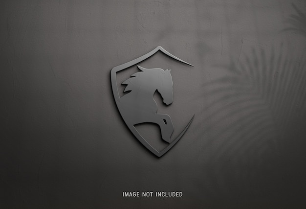 Nahaufnahme auf dunklem logo modell