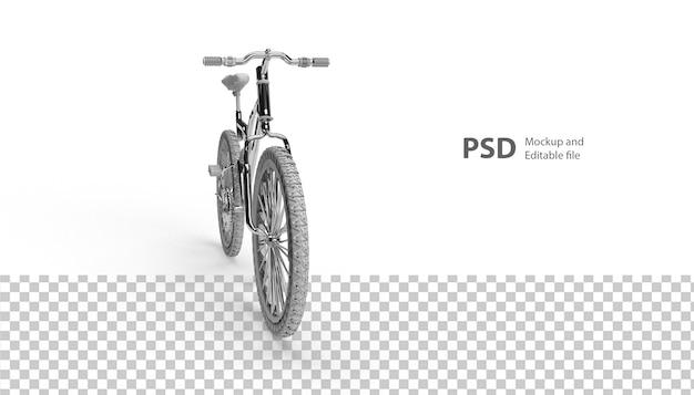 Nahaufnahme auf fahrrad lokalisiert in 3d-rendering