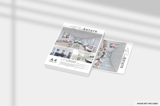Nahaufnahme auf flyer oder broschüre für immobilienmodell