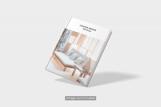 Nahaufnahme auf flying book cover mockup
