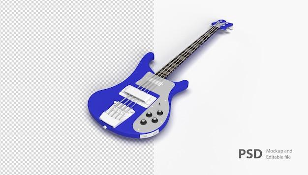Nahaufnahme auf gitarre isoliert