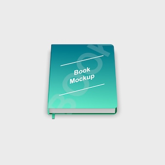 Nahaufnahme auf hardcover-buchmodell isoliert