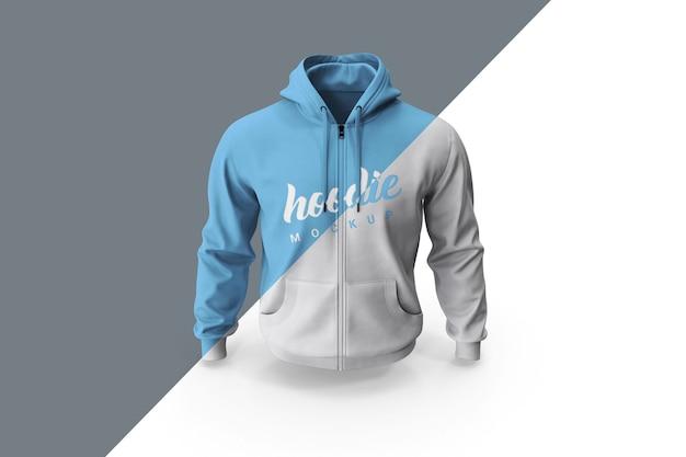 Nahaufnahme auf hoodie mockup vorderansicht isolieren