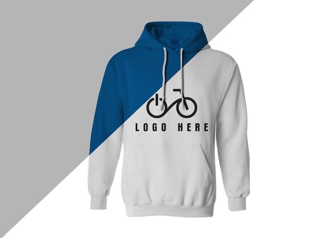 Nahaufnahme auf hoodie-modellentwurf isoliert