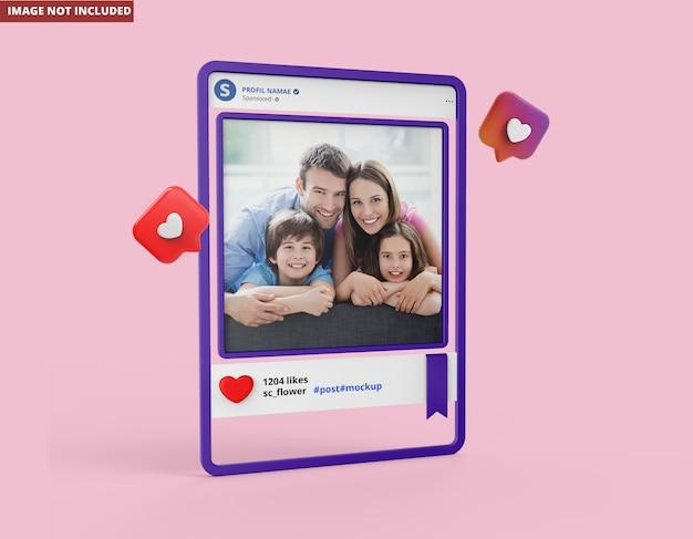 Nahaufnahme auf instagram social media modell