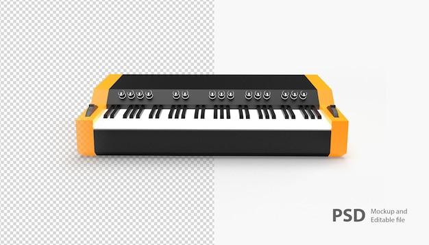 Nahaufnahme auf klavier isoliert
