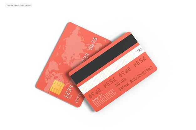 Nahaufnahme auf kreditkartenmodell isoliert