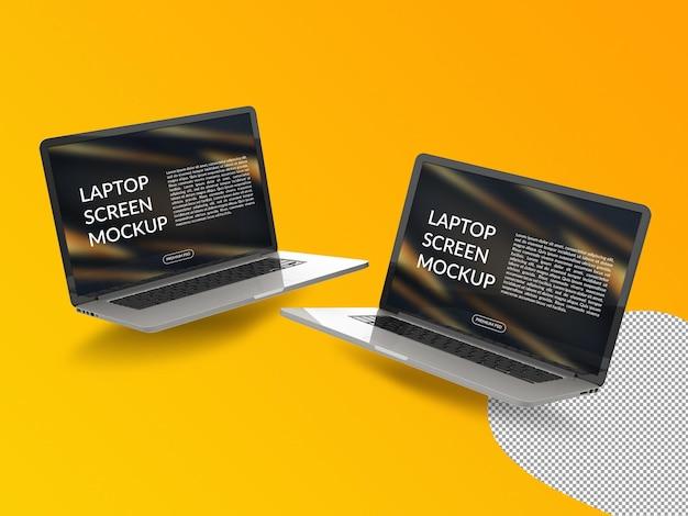 Nahaufnahme auf laptop-modell isoliert