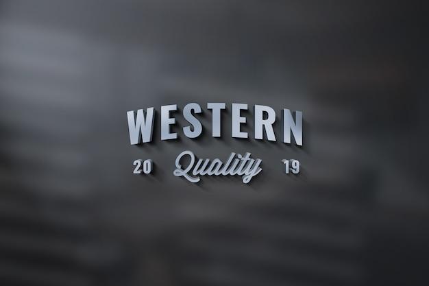 Nahaufnahme auf logo und sign mockup