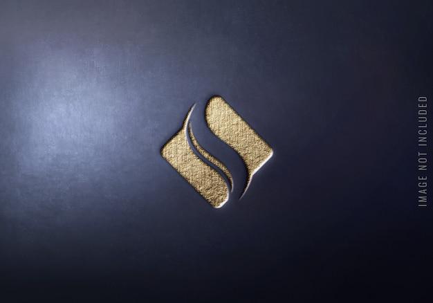 Nahaufnahme auf luxus-logo-modell
