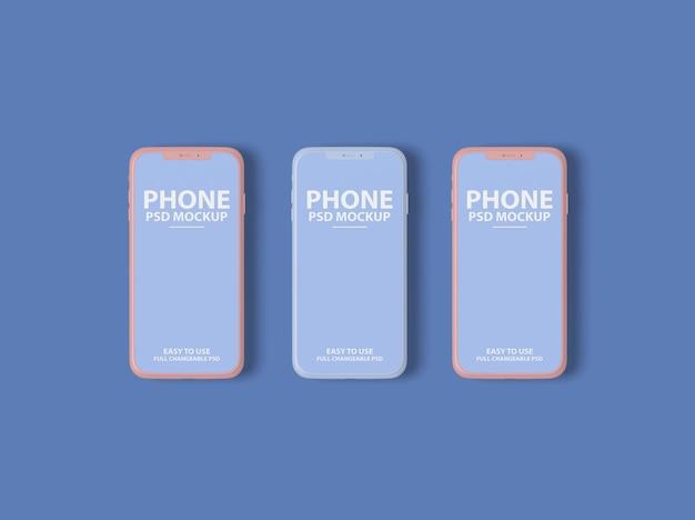 Nahaufnahme auf luxus-smartphone-bildschirm modell