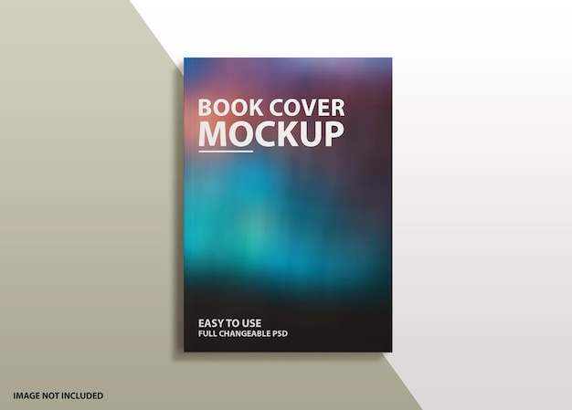 Nahaufnahme auf luxusbuch hardcover-modell