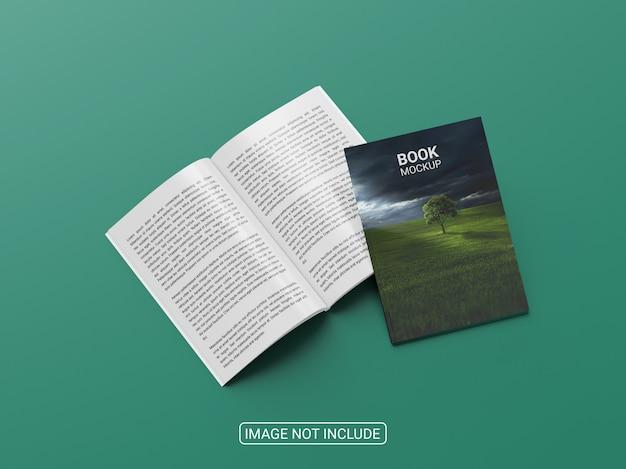 Nahaufnahme auf magazin oder broschürenmodell