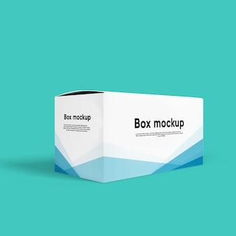 Nahaufnahme auf package box mockup isolated