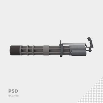 Nahaufnahme auf pistole isoliert premium-psd