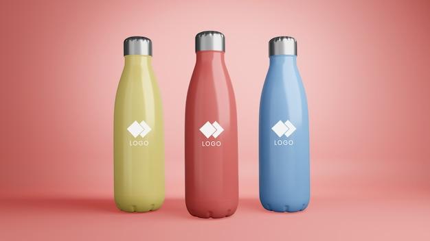 Nahaufnahme auf plastikkorporativflaschenmodell
