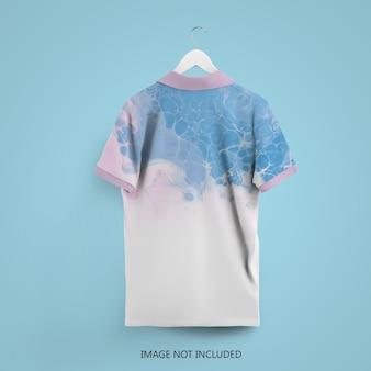 Nahaufnahme auf polo t-shirt mockup isolated