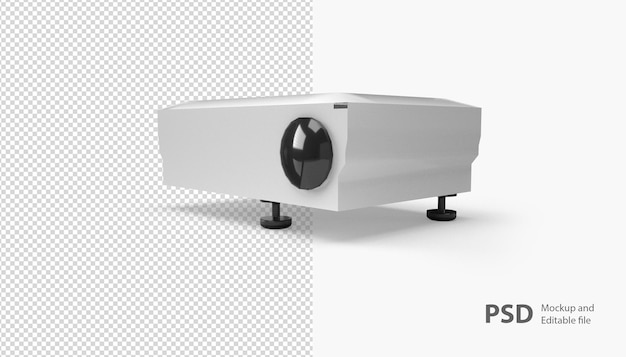 Nahaufnahme auf projektor isoliert