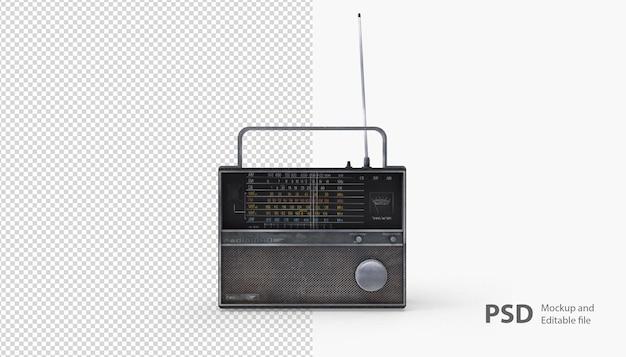 Nahaufnahme auf radio isoliert