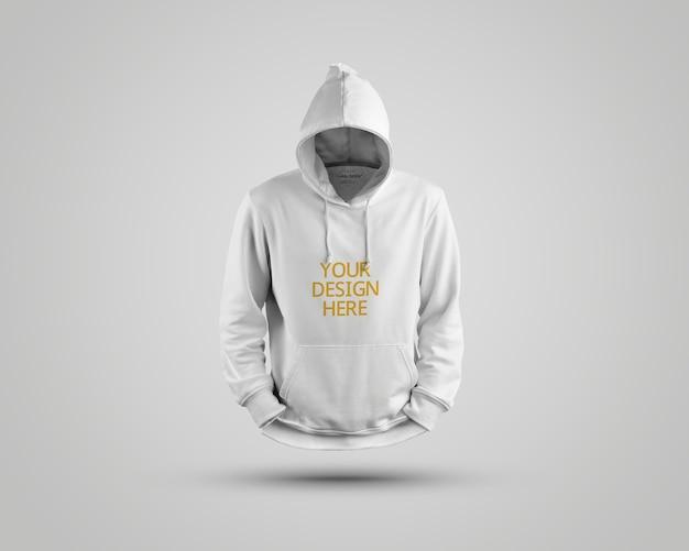 Nahaufnahme auf schönem hoodie-modell isoliert