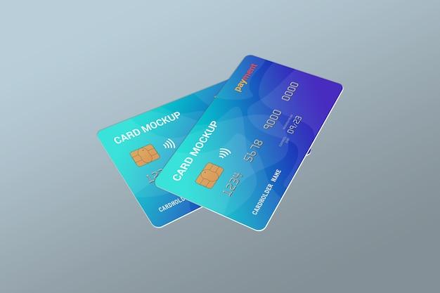 Nahaufnahme auf smart card mockup design isoliert