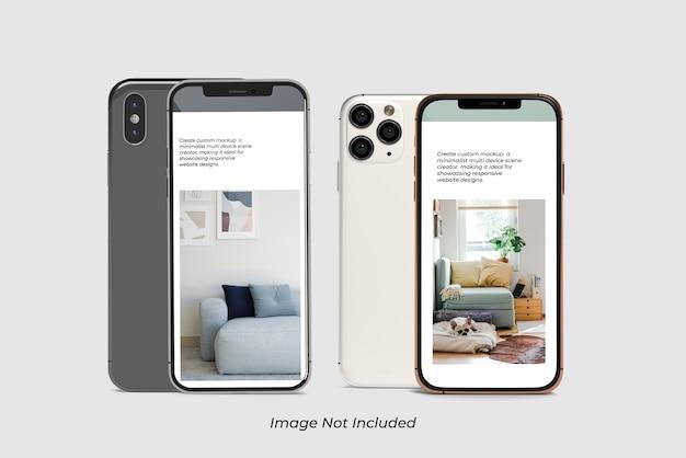 Nahaufnahme auf smartphone mockup isolated