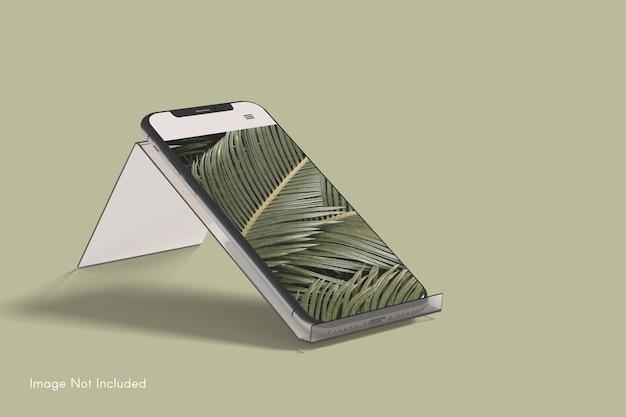 Nahaufnahme auf smartphone-modell Premium PSD