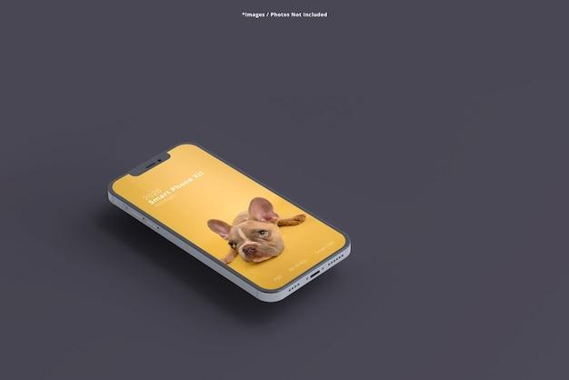 Nahaufnahme auf smartphone-modelle isoliert