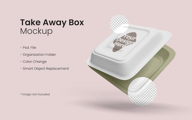 Nahaufnahme auf takeaway food box modell