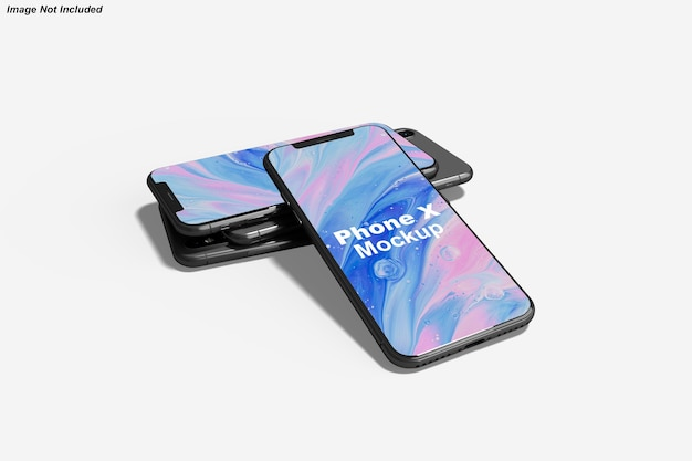 Nahaufnahme auf telefonbildschirm mockup isolated
