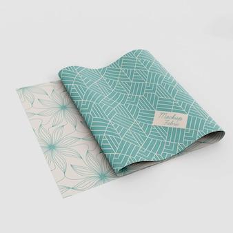 Nahaufnahme auf textilem materialmodell