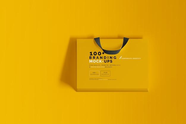 Nahaufnahme auf verpackung des einkaufstaschen-modells