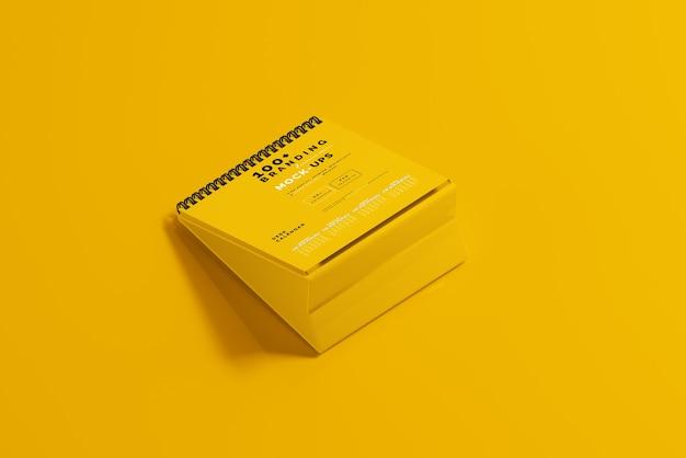 Nahaufnahme auf verpackung des schreibtischkalender-modells