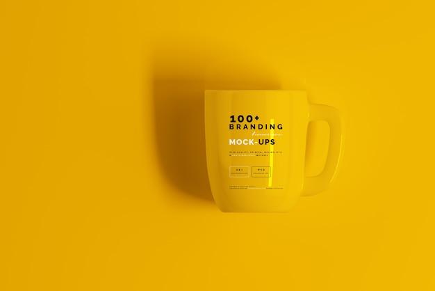 Nahaufnahme auf verpackung von mug mockup