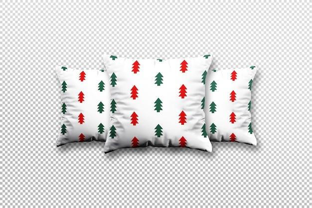 Nahaufnahme auf weihnachtskissen-mockup-design