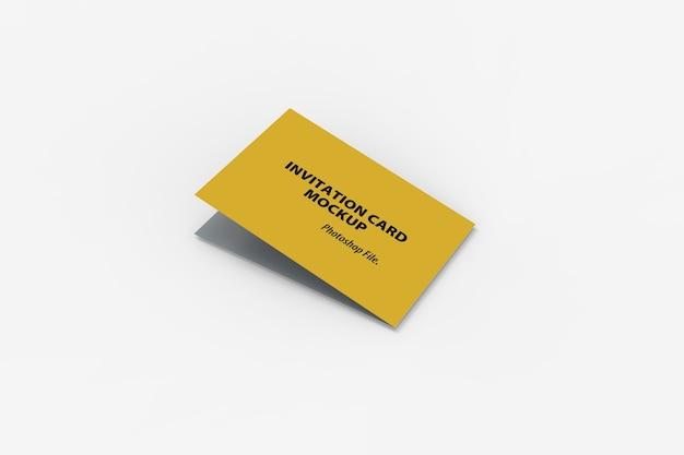 Nahaufnahme des bifold-einladungskartenmodells