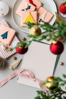 Nahaufnahme einer weihnachtsgrußkarte