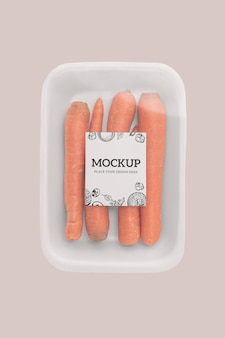 Nahaufnahme eines veganen verpackungsmodells