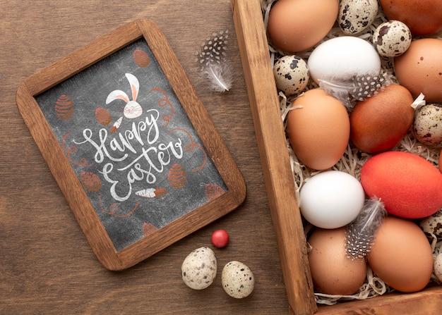 Nahaufnahme rahmen und eier