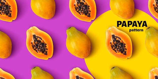 Nahtloses muster der papaya-frucht